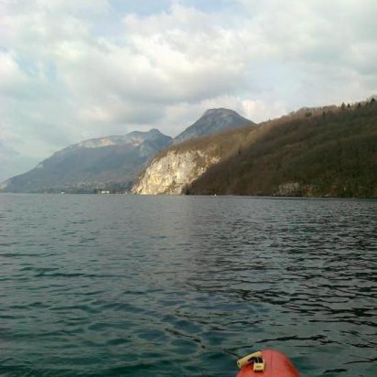 Roc de Chère et Mont Veyrier au fond