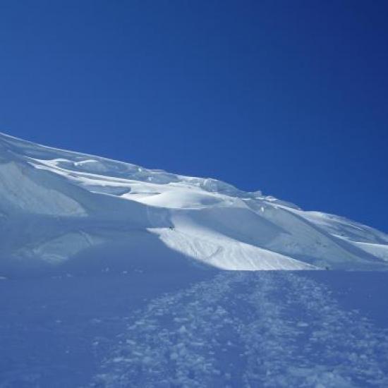 Le début de la face Nord du Mont Blanc du Tacul