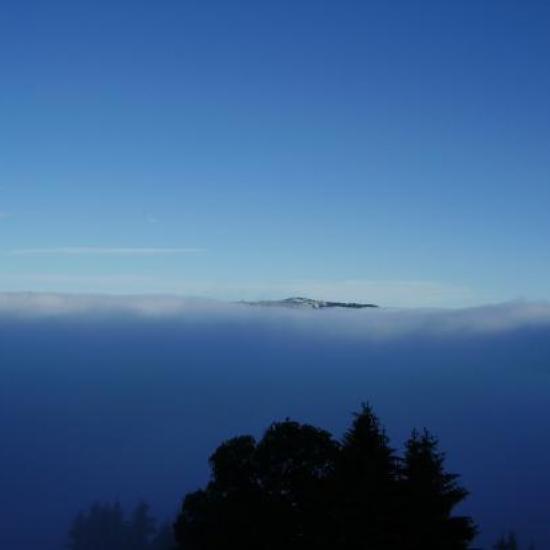 En sortant des nuages