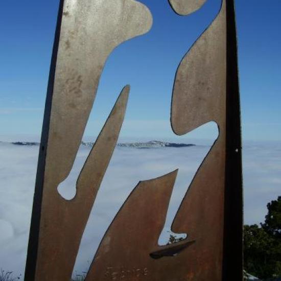 Au sommet du Roc des Boeufs