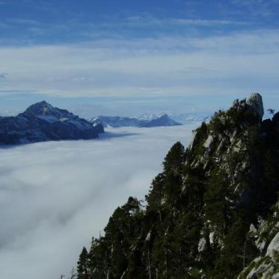 Le Trelod, l'Arclusaz et le Mont Colombier
